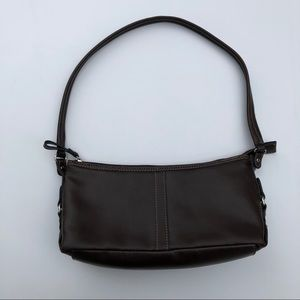 Genuine brown leather handbag purse Relic
